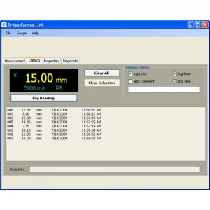 Communicator Software For Tritex Ultrasonic Thickness Testers