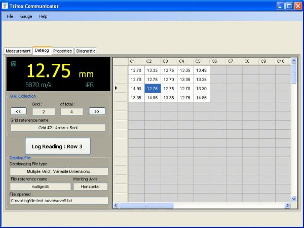 Communicator Software For Tritex Ultrasonic Thickness Tester