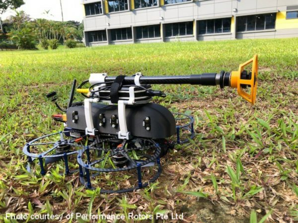Drone with Multigauge 6000 Thickness Gauge Fitted